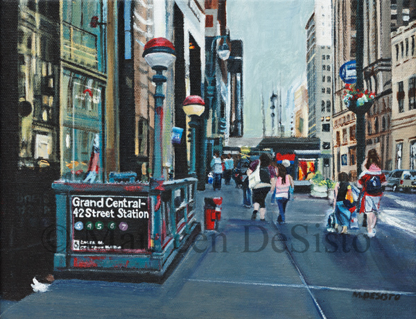 Grand Central Station - Acrylic Landscape Painting